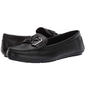 Calvin Klein.Ladeca leather loafers.Black size 9M